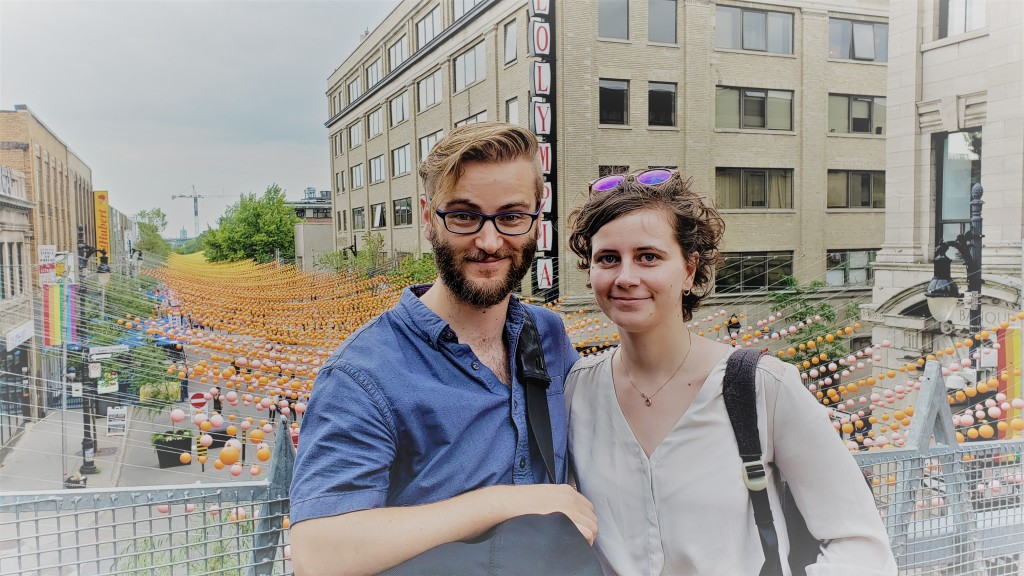 Brennan and Theresa in the Gay District of Montreal